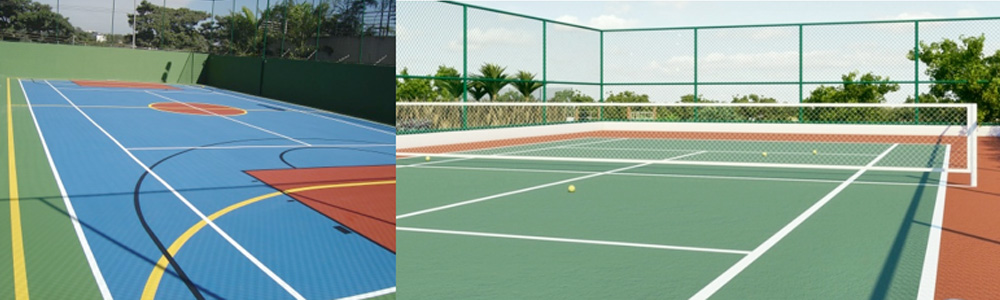 E Quadra associação sabesp - aviso: quadra poliesportiva e quadra de tênis